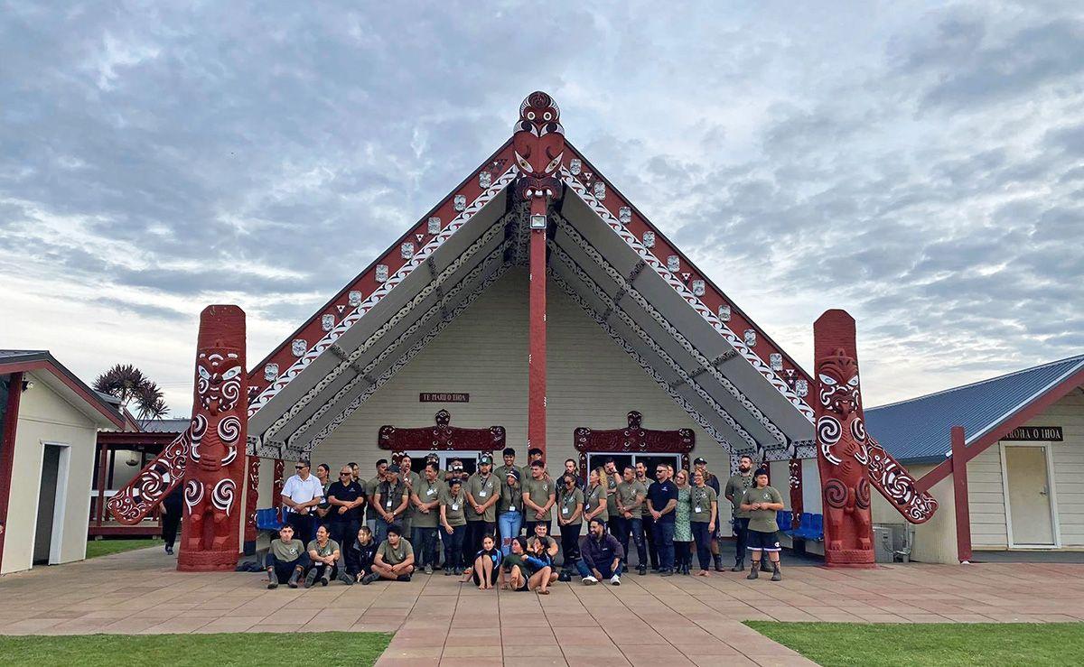 The Pūniu River Care team at Mangatoatoa Marae
